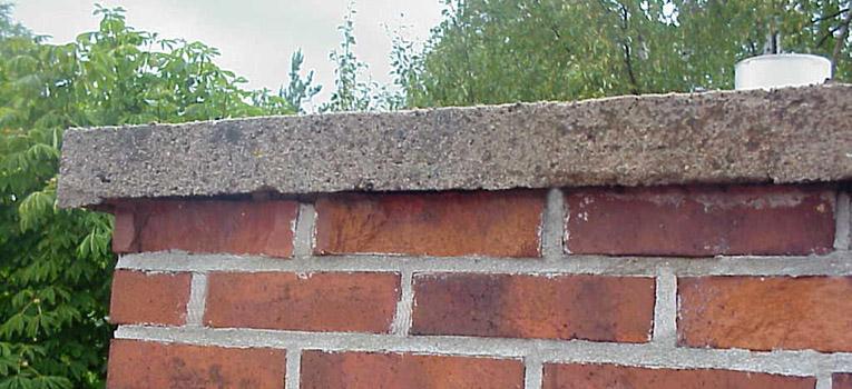 Murade skorstenar - blockskorstenar av pimpsten - traditionella tegelskorstenar